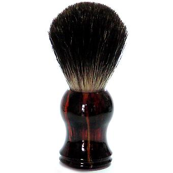 Gold roof shaving brush with badger hair, plastic handle