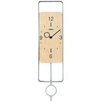 Atlanta 5019/30 wall clock quartz with pendulum wood Alder optics pendulum clock modern