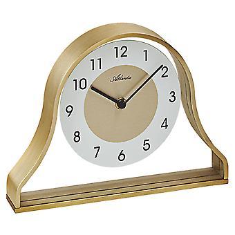 أتلانتا 3125 نمط الساعة على مدار الساعة ساعة كوارتز الإطار المعدني الذهبي مع الزجاج