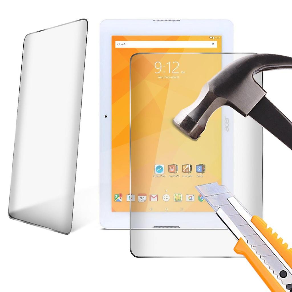 InnJoo W1 Tempered Glass LCD Screen Protector Guard for 10.1 inch Tablet by i-Tronixs-Clear ( Pack of 1)
