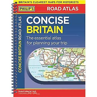 Philip's Concise Atlas Britain - Spiral A5 by Philip's Maps - 97818490
