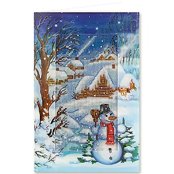 Panna Cross Stitch Card Kit : Winter Evening