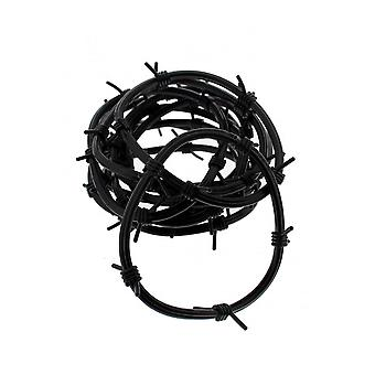 Attitude Clothing Black Barbwire Gummie Bangles