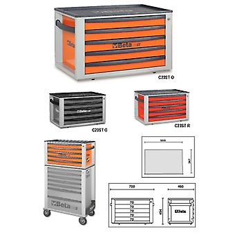 Beta 023000522 C23 ST-G Portable Tool Chest With Five Drawers