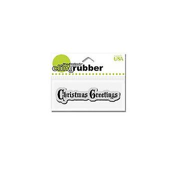 Stampendous Cling Rubber Stamp - Christmas Greetings