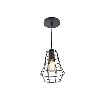 Jandei Black Rustic Tulip Pendentif Lampe E27