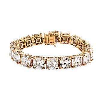 J Francis gemacht mit Swarovski Kristall Tennis Armband 14ct vergoldet Silber