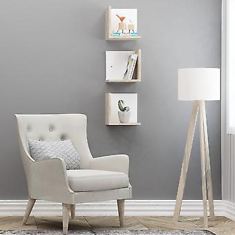 Mensola Cabrera Color Bianco, Rovere in Truciolare Melaminico 30x22x30 cm