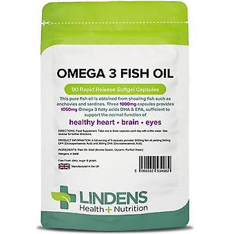 Lindens Omega 3 Kalaöljy (30% DHA/EPA) Kapselit 90 (4982)