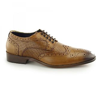 Paolo Vandini Redmond Mens Leather Wingtip Derby Brogues Tan