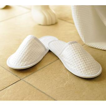 Towel City Unisex Waffle Mule Closed Toe Slippers