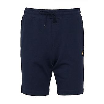Lyle en Scott Navy Jersey Katoenen Shorts