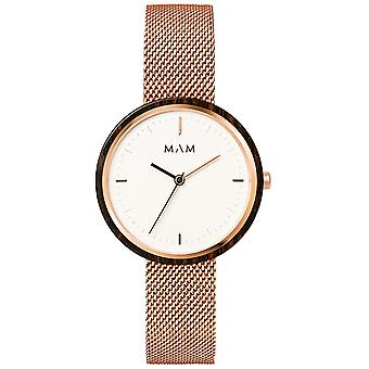Mam Flat Watches Watch for Japanese Quartz Analog Women with 664 Stainless Steel Bracelet