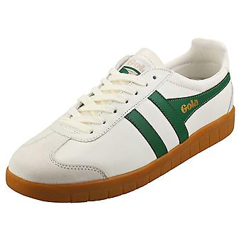 Gola Hurricane Mens Casual Trainers in Off White Green