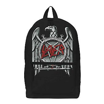 Slayer Backpack Silver Eagle Classic Band Logo new Official Rocksax Black
