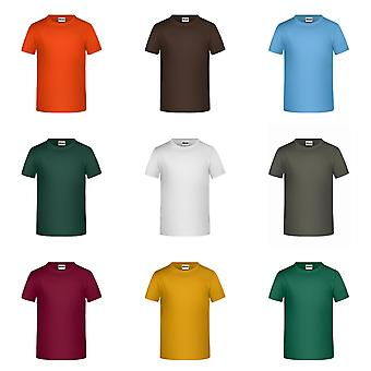 James og Nicholson Childrens gutter Grunnliggende T-Shirt
