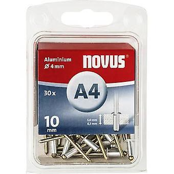 Novus 045-0025 Blind klinknagel (Ø x L) 4 x 10 mm Aluminium Aluminium 30 PC('s)