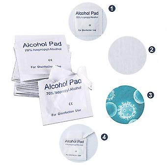 100pcs Set Alcohol Prep Swap Pad Disposable Skin Clean Jewelry Care Cleaning Phone For Antiseptic Mobile Disinfect