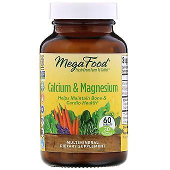 MegaFood, calcium en magnesium, 60 tabletten