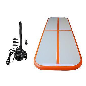 100x60x20CM Gymnastics Tumbling Mat+400W Inflator Orange