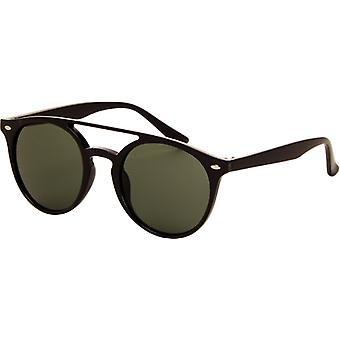 Sunglasses Unisex black with green lens (AZ-2110)