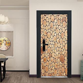 Adesivo de porta 3d criativo - Adesivo de papel de parede de design de porta inicial