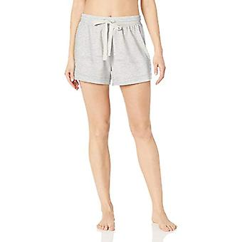 Essentials Womenăs Lightweight Lounge Terry Pijama Scurt, -gri heathe...