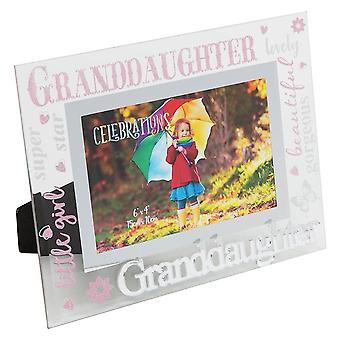 Widdop & Co. Granddaughter 3d Words 6 X 4 Glass Photo Frame