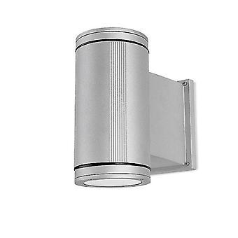 1 Lumière Extérieure Cylindre Mur Gris Gris Clair IP65