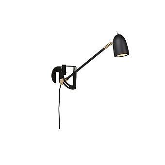 1 licht indoor wand lamp zwarte structuur