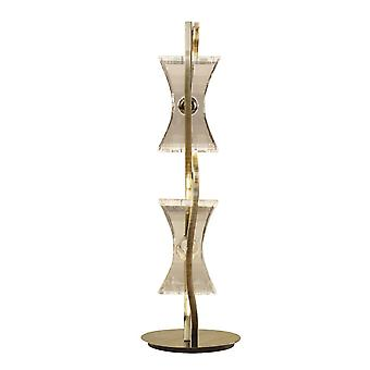 Mantra ispirato - Kromo - Lampada da tavolo 2 Light G9 Looped Frame, Antique Brass