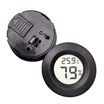 Pet Thermometer Hygrometer - Round Digital Lcd Display Temperature Humidity Monitor