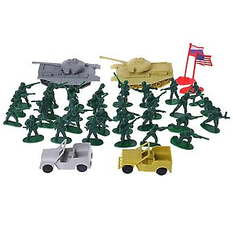 Military Sand Table Soldier Model Set - Scene Building Educational