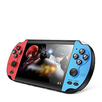 X1 4.3-inch Nostalgic Classic Dual-shake Game Console 8g Built-in 10000 Games Super Core Handheld Game Players (blue)