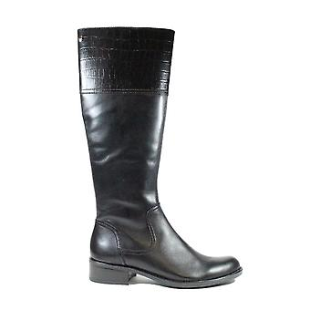 Caprice 25525 Black Leather Womens Long Leg Boots
