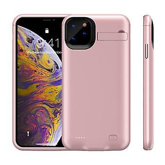 الاشياء المعتمدة® فون 11 برو ماكس باور كايس 6200mAh باوربانك حقيبة شاحن غطاء الغطاء حالة الوردي