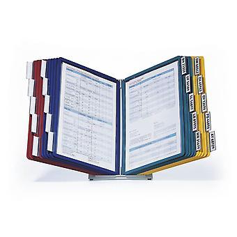 Duurzaam 569900 Tafeldisplaypaneelsysteem (Vario Tabel 20, met 20 kijkpanelen) veelkleurig