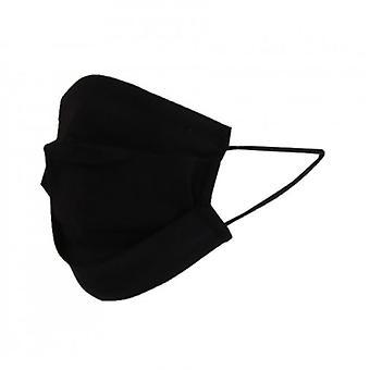 Reusable Pleated Cotton Face Mask | Black