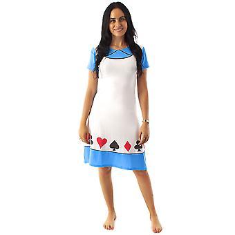 Disney Alice em vestido de fantasia do País das Maravilhas