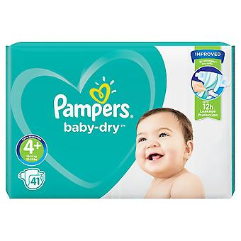 1 x 41 Nappies 4+ Baby Pampers 12h Dry Diaper Todler 10-15kg Night Strong