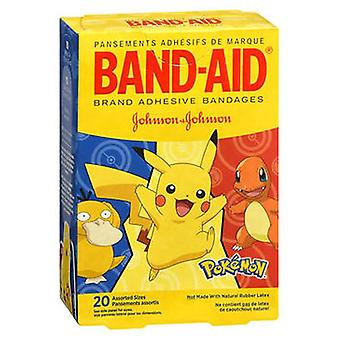 Band-Aid αυτοκόλλητη επιδέσμους Pokemon ανάμικτα μεγέθη, 20 κάθε