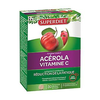 Acerola Vitamin C 30 tablets (Cherry)