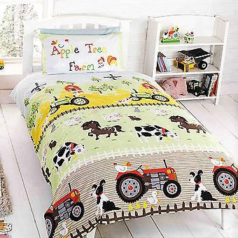 Apple Tree Bambini/ Bambini Farm Design Single Duvet Set