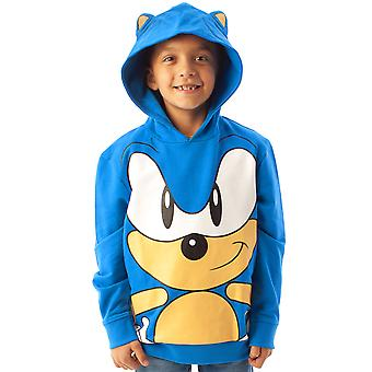 Sonic The Hedgehog Hoodie Character 3D Ears Boy's Kids Blue Hooded Jumper