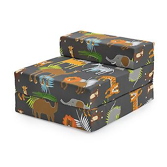 Africa Kids Character Foam Fold Out Sleep Over Guest Single Futon Chair Sofa Z Bed Seat