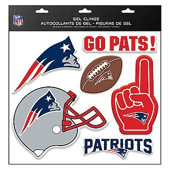 NFL نيو انغلاند الوطنيين ملصقا متعددة الاستخدامات الديكور مجموعة 6