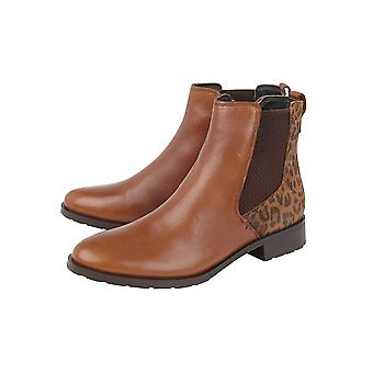 Lotus Bertie Leder Stiefeletten in Tan