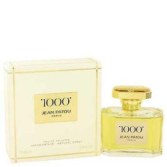 1000 por Jean Patou Eau de toilette spray 2,5 oz (mulheres) V728-421534