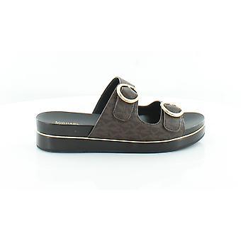 Michael Michael Kors Femme Estelle Cuir Open Toe Casual Slide Sandals
