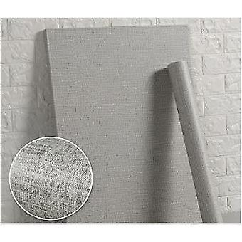 Cement Linen Pattern Waterproof Wallpaper, Self-adhesive Solid Color Dormitory